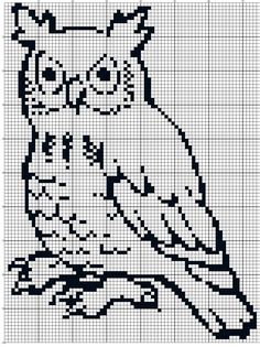for little brother Sponsored By: Grandma's Crochet Shop Filet crochet.for little brother Sponsored By: Grandma's Crochet Shop Cross Stitch Owl, Cross Stitch Animals, Cross Stitch Designs, Cross Stitching, Cross Stitch Patterns, Filet Crochet Charts, Knitting Charts, Crochet Stitches, Owl Knitting Pattern