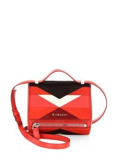 691d233fa0 Givenchy - Mini Leather Pandora Box Bag Red Shoulder Bags