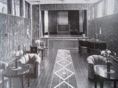 Music and Theater Room in the Stoclet Palace, Brussels, Belgium, c. 1911.
