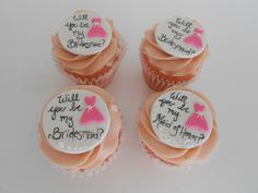 will you be my bridesmaid? cupcakes