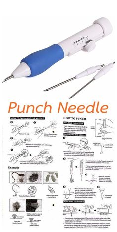 3 Sized in 1 Punch Needle  A Good Tool is something needed to produce a good needlework #embroidery