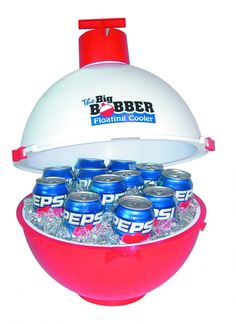 The Big Bobber Floating cooler (for a man gift) - good man gift website. oh my gosh, so many men I know who need this! FATHER'S DAY PRESENT! Cute Gifts, Diy Gifts, Great Gifts, Amazing Gifts, Tech Gifts, Floating Cooler, Floating River, Holiday Gifts, Christmas Gifts
