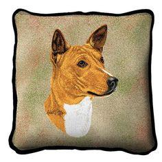 Basenji Dog Portrait Pillow