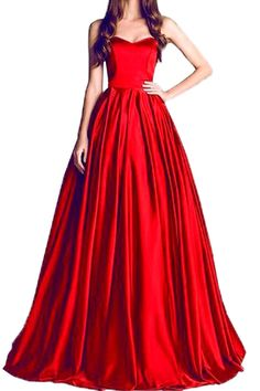 Honey Qiao Red Sweetheart Prom Dresses Long Pleats Evening Party Gown With Train. Products details:honey qiao prom dresses take the satin fabric,vintage red a line dress,fall long dress for wedding,elegant floor length,sexy sweetheart with zipper,simple style,pleats on the bottom,unique prom with train.Natural waist.Hot sales and new arrivals.satin fabric looks more smooth and textured.You can choose the color from our color pic and send message to me by amazon. Custom made:Honey qiao…