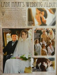 Downton Abbey Wedding - Lady Mary and Matthew - Antique Art Deco 1920's Weddings