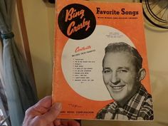Bing Crosby, favorite songs with words and guitar chords. Vintage Bing Crosby, Bing Crosby Sheet music, old sheet music by Morethebuckles on Etsy