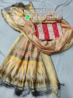 Pochampally ikkat cotton silk dress materials mtrs top with dupatta Available in stock For more details call or WhatsApp at Pochampally Sarees, Ikkat Saree, Banarasi Sarees, Ikkat Dresses, Silk Material, Saree Styles, Saree Blouse Designs, Wedding Wear, Cotton Silk