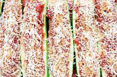Recipe: Skinny Sausage Zucchini Boats