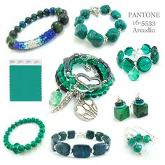 Color Trends 2018 | Pantone Arcadia | Jewelry trend colors #colors #trends #2018
