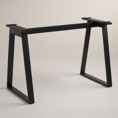 Our matte black angled desk base creates a modern foundation for any of our Colton Mix & Match Desk Tops.