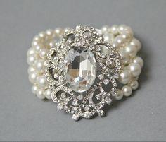 pearl vintage wedding bracelet