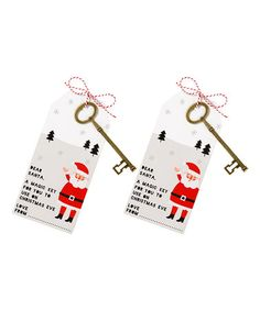 Another great find on #zulily! Santa Magic Key - Set of Two #zulilyfinds