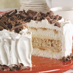 """Tiramisu Layer Cake ~ """"Fancy taste without all the work. This cake is wonderful for a get together or just a special occasion at home. Using a box cake mix as a base it's a real time saver!"""""""