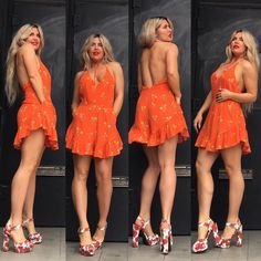 She absolutely believed that if you are true to yourself and genuine you will attract the exact same. I've always believed that but it is clearer now more than ever.  Don't confuse the universe with garbage or will attract such things. You must feel and you must believe   He is here not by accident.  ALMA $110  Orange flirty romper You know I like it loose so this is a large but I could absolutely fit a medium  BEAUTY $89  Rose heel  http://ift.tt/1k8MHGM  http://ift.tt/1k8MHGM
