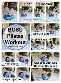 BOSU Pilates Workout It's great to change up your pilates rou. - BOSU Pilates Workout It's great to change up your pilates routine with different - Bosu Workout, Pilates Workout Routine, Pilates Training, Fitness Workouts, Cardio Pilates, Pilates Moves, Pilates Video, Pilates For Beginners, At Home Workouts