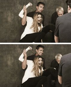 Theo James & Shailene Woodley. I ship it. I ship it so hard.