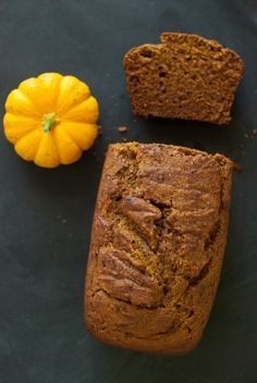 Honey Whole Wheat Pumpkin Bread Recipe - Cookie and Kate- Great find on this lovely blog.  Bread is in the oven- raising nicely and smelling delic.  :)