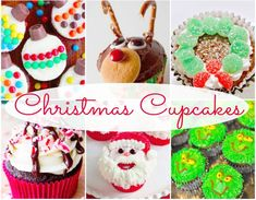 Here is a wonderful collection of 15 Easy to Make Christmas Cupcake decoration ideas.