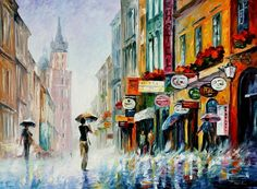 I love this mans art!!!   Cityscape - Afremov official online Art Gallery