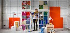 Ikea craft room with Kallax