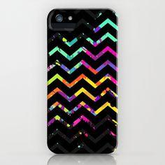Splashs VI Chevron Black iPhone & iPod Case by Rain Carnival - $35.00 #iphone #samsung #mobile #case #skin #colorful #summer #chevron