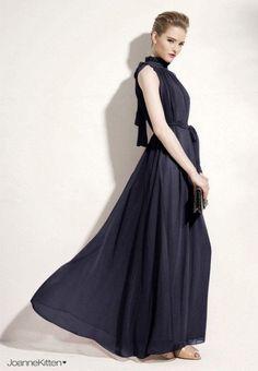 Women's Summer Style Elegant Chiffon Maxi Dress