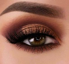 Gorgeous Makeup: Tips and Tricks With Eye Makeup and Eyeshadow – Makeup Design Ideas Copper Eye Makeup, Eye Makeup Tips, Makeup For Brown Eyes, Smokey Eye Makeup, Hair Makeup, Makeup Blog, Eye Makeup For Hazel Eyes, Brown Smokey Eye, Black Makeup