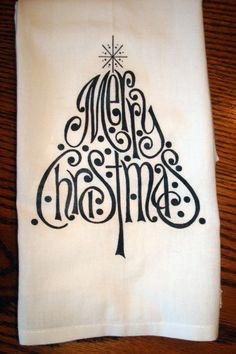 Flour Sack Kitchen Towel (Christmas)