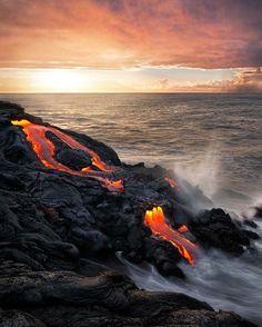 .#HipmunkBL - lava flows on the big island.