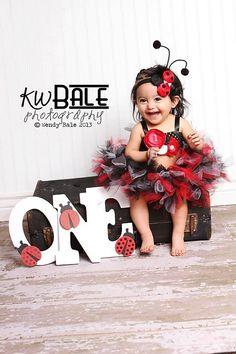 The Lady Bug Crochet Top- red, black, white, Lady bug, Baby, Girl, Newborn, Infant, Toddler, Top, Shirt, Birthday, Vintage, Cake Smash