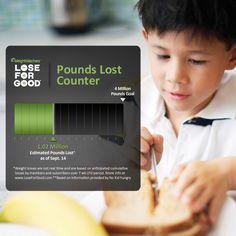 Our Members and Subscribers have lost an estimated 1.02 Million pounds* so far as part of our Lose For Good® campaign!    This could help connect over 1,000 kids with meals in an after school program for a full year**.