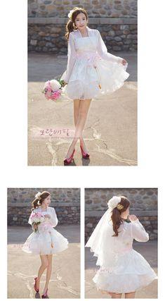 [제작기간 1~2주] 열매 - ivory (퓨전한복/한복드레스/미니한복) Beautiful Clothes, Beautiful Outfits, Cool Outfits, Lolita Fashion, Women's Fashion, Korean Dress, Korean Fashion, Oriental, Kimono