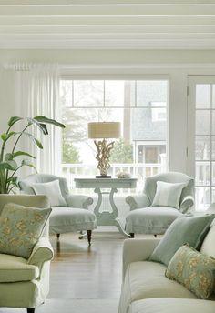 Cottage with Inspiring Coastal Interiors - Home Bunch Interior Design Ideas Furniture, Home Living Room, Interior, Home, Living Room Decor, House Interior, Room Decor, Interior Design, Home And Living