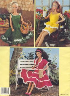 Free Copy of Crochet Pattern - Summertime Fashion Doll Wardrobe