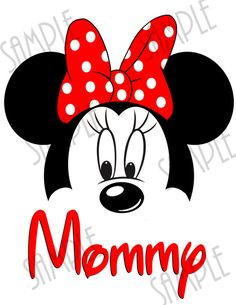T-shirt Disney Minnie Mouse ears Iron On by Fantasyprintables