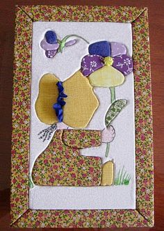 Caixa em carton mousse forrada com tecido Applique Quilts, Embroidery Applique, Japanese Quilts, Pinterest Crafts, Amish Quilts, Sewing Appliques, Free Machine Embroidery Designs, Quilted Wall Hangings, Mug Rugs