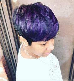 Love this purple via @artistry4gg - https://blackhairinformation.com/hairstyle-gallery/love-purple-via-artistry4gg/