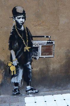 BBoy Canvas Art by Banksy | iCanvas