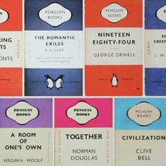 Osborne & Little Penguin Library Multi Wallpaper Penguin Classics, One Day I Will, Home Interior Design, Penguins, Healing, Romantic, How To Plan, Retro, Wallpaper