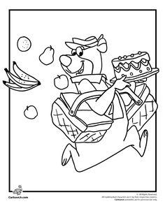 color page yogi bear picnic | Yogi Bear Coloring Pages Yogi Bear Coloring Page – Cartoon Jr.