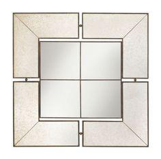 Buy the Kichler 78130 Antique Mirror Direct. Shop for the Kichler 78130 Antique Mirror Glenn Square Mirror - x and save. Silver Wall Mirror, Mirror Mirror, Mirror Glass, Antiqued Mirror, Magic Mirror, Interior Styling, Interior Design, Room Dimensions, Floor Mirror