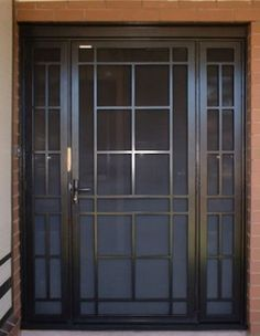 At MSD Melbourne we are proud of our extensive range of aluminium and steel security doors. Visit our security door gallery and see the range now. Security Screen Door, Grill Design, Security Door, Metal Doors Design, Iron Doors, Steel Security Doors, Entrance Doors, Window Grill Design, Front Door Security