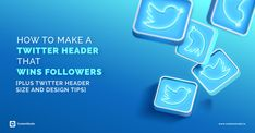 How to design an awesome Twiiter Header - ContentStudio Cool Twitter Headers, Can Design, Social Networks, Content Marketing, Followers, Reflection, Neon Signs, Messages, Key