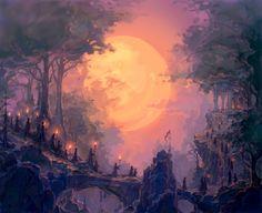 Turgon's people leaving Vinyamar for Gondolin
