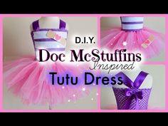 DIY Doc McStuffins Costume Tutu Dress - YouTube