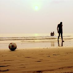 Football pitch on the beach.....