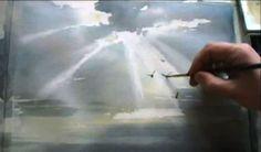 КАК научиться РИСОВАТЬ. Небесный свет АКВАРЕЛЬ