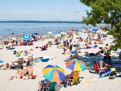 Exotic Canada: Go to the centre of it all in Manitoba at Grand Beach on Lake Winnipeg. The largest lake in the world. Rest Of The World, Wonders Of The World, Lake Winnipeg, Seasons In The Sun, Canada Destinations, Western Canada, O Canada, Summer Memories, Quebec City
