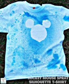 I was sent plain white t-shirts for our Disney Side Party for the kids to decorate. They sent fabric markers accompanied with it but I decided to do something different.  ...