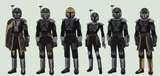 Star Wars - Clan Arche Mandalorians by on DeviantArt Star Wars Characters Pictures, Star Wars Pictures, Star Wars Images, Star Wars Concept Art, Star Wars Fan Art, Armadura Cosplay, Star Wars Helmet, Star Wars Planets, Mandalorian Armor